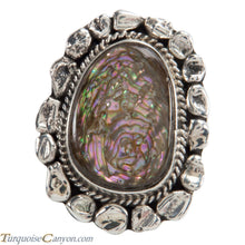 Load image into Gallery viewer, Navajo Native American Abalone Shell Ring Size 8 by Willeto SKU225094