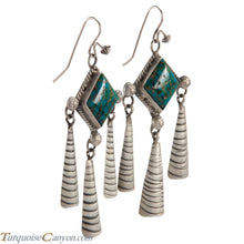 Load image into Gallery viewer, Navajo Native American Turquoise Mountain Earrings by Lee SKU225146