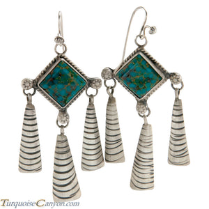 Navajo Native American Turquoise Mountain Earrings by Lee SKU225146