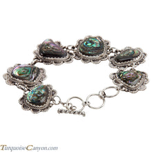 Load image into Gallery viewer, Navajo Native American Abalone Shell Link Bracelet by Richard Jim SKU225181
