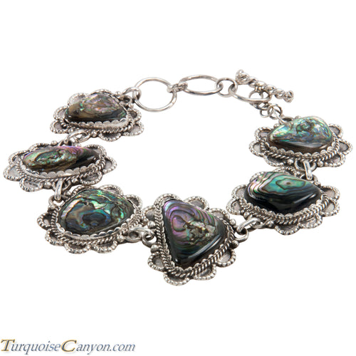 Navajo Native American Abalone Shell Link Bracelet by Richard Jim SKU225181