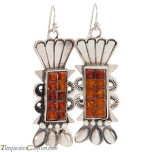 Load image into Gallery viewer, Navajo Native American Baltic Amber Earrings by Betty Ann Lee SKU225196