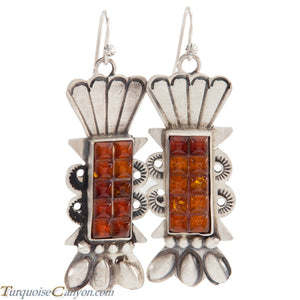 Navajo Native American Baltic Amber Earrings by Betty Ann Lee SKU225196
