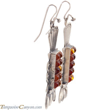 Load image into Gallery viewer, Navajo Native American Baltic Amber Earrings by Betty Ann Lee SKU225197