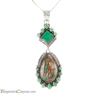 Navajo Native American Royston Turquoise Variscite Pendant Necklace SKU225213