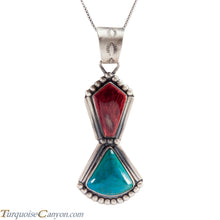 Load image into Gallery viewer, Navajo Native American Purple Shell Chrysocolla Pendant Necklace SKU225216