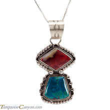 Load image into Gallery viewer, Navajo Native American Purple Shell Chrysocolla Pendant Necklace SKU225217