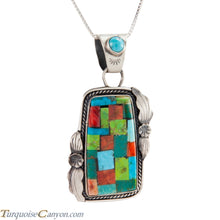 Load image into Gallery viewer, Navajo Native American Turquoise and Gaspeite Pendant Necklace SKU225224