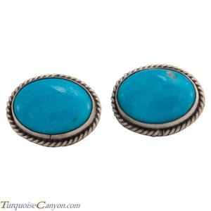 Navajo Native American Kingman Turquoise Cuff Links by Willeto SKU225249