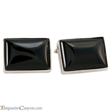 Load image into Gallery viewer, Navajo Native American Onyx Cuff Links SKU225263