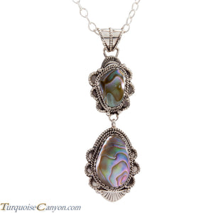 Navajo Native American Abalone Shell Pendant Necklace by Jim SKU225293