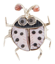 Load image into Gallery viewer, Zuni Native American Pink Shell Ladybug Pin Pendant by Shirley SKU225339