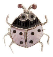 Load image into Gallery viewer, Zuni Native American Pink Shell Ladybug Pin Pendant by Shirley SKU225340