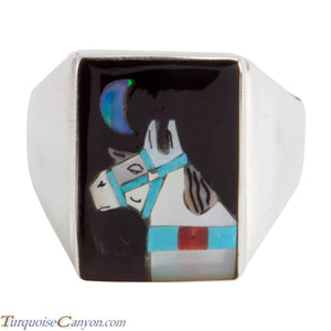 Zuni Native American Turquoise Horse Ring Size 12 3/4 by Concho SKU225361