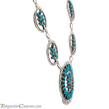 Load image into Gallery viewer, Zuni Native American Turquoise Necklace and Earrings by Etsate SKU225385
