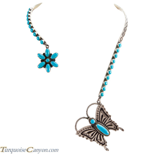Navajo Native American Turquoise Necklace by Herman Smith SKU225387