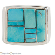 Load image into Gallery viewer, Navajo Native American Turquoise Ring Size 12 by Richard Bitsie SKU225477