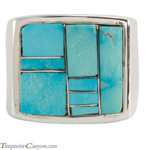 Navajo Native American Turquoise Ring Size 12 by Richard Bitsie SKU225477