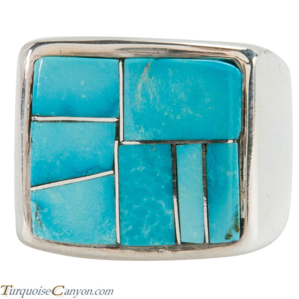 Navajo Native American Turquoise Ring Size 12 by Richard Bitsie SKU225478