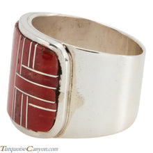 Load image into Gallery viewer, Navajo Native American Orange Shell Ring Size 11 1/2 by Merle House SKU225484