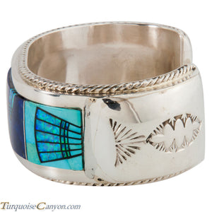Navajo Native American Lapis Turquoise Inlay Bracelet by Etsitty SKU225502