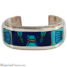Load image into Gallery viewer, Navajo Native American Lapis Turquoise Inlay Bracelet by Etsitty SKU225502