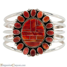 Load image into Gallery viewer, Navajo Native American Orange Shell Bracelet by Darryl Livingston SKU225503