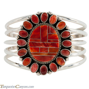 Navajo Native American Orange Shell Bracelet by Darryl Livingston SKU225503