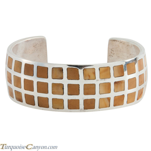 Navajo Native American Jasper Inlay Bracelet by Charles Johnson SKU225505