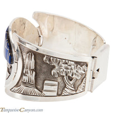 Load image into Gallery viewer, Navajo Native American Lapis Inlay Bracelet by Floyd Becenti SKU225512