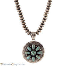 Load image into Gallery viewer, Navajo Native American Mine Number 8 Turquoise Pendant w Necklace SKU225568
