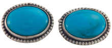 Load image into Gallery viewer, Navajo Native American Kingman Turquoise Cuff Links by Willeto SKU225632