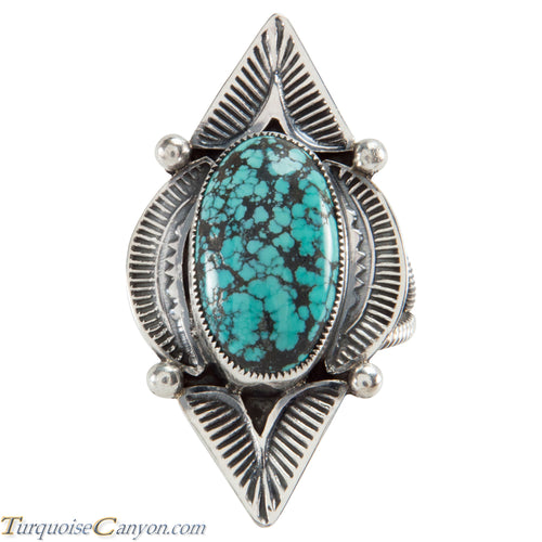 Navajo Native American Turquoise Ring Size 12 3/4 by Jon McCray SKU225694