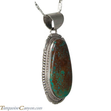 Load image into Gallery viewer, Navajo Native American King Manassa Turquoise Pendant Necklace SKU225710