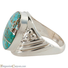 Load image into Gallery viewer, Navajo Native American Mine Number 8 Turquoise Inlay Ring Size 11 SKU225731