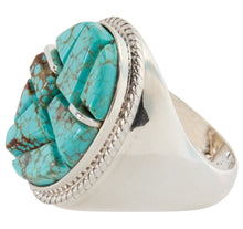 Load image into Gallery viewer, Navajo Native American Mine Number 8 Turquoise Ring Size 12 SKU225772