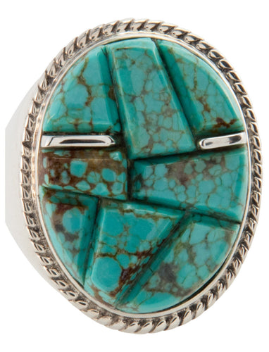 Navajo Native American Mine Number 8 Turquoise Ring Size 12 SKU225772