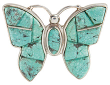 Load image into Gallery viewer, Navajo Native American Mine Number 8 Butterfly Pin and Pendant SKU225792
