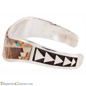 Navajo Native American Tiger Eye and Jasper Inlay Bracelet by Begay SKU225863