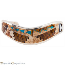 Load image into Gallery viewer, Navajo Native American Tiger Eye and Jasper Inlay Bracelet by Begay SKU225863