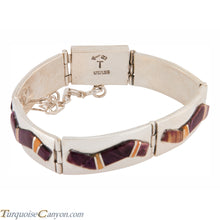 Load image into Gallery viewer, Navajo Native American Orange and Purple Shell Link Bracelet SKU225894