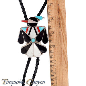 Dead Pawn Zuni Turquoise and Shell Thunderbird Bolo Tie SKU225927