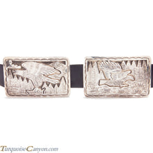 Load image into Gallery viewer, Navajo Native American Dead Pawn Eagle Concho Belt by Delgarito SKU225934