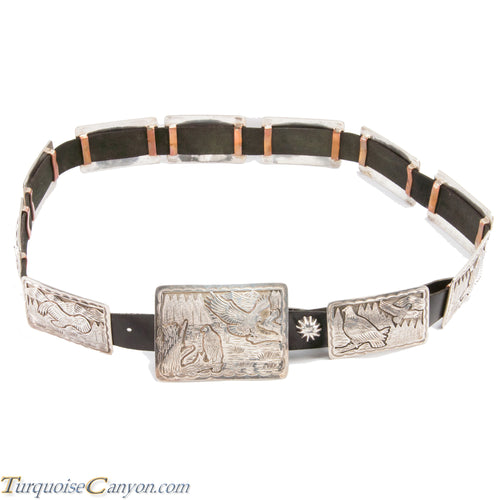Navajo Native American Dead Pawn Eagle Concho Belt by Delgarito SKU225934