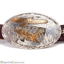 Load image into Gallery viewer, Navajo Native American Eagle Silver Gold Concho Belt SKU225935