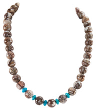 Load image into Gallery viewer, Navajo Native American Magnesite and Turquoise Necklace SKU225954