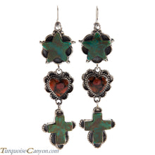 Load image into Gallery viewer, Navajo Native American Turquoise and Coral Earrings by Willeto SKU225961