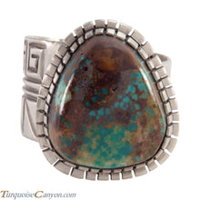 Load image into Gallery viewer, Acoma Pueblo Native American Pilot Mountain Turquoise Ring Size 12 SKU226001