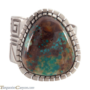 Acoma Pueblo Native American Pilot Mountain Turquoise Ring Size 12 SKU226001