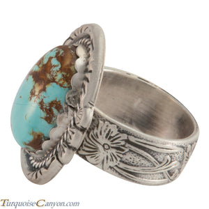 Navajo Native American Crescent Valley Turquoise Ring Size 6 3/4 SKU226008